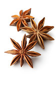 Flavouring: Anise Isolated on White Background