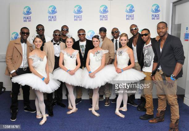 Flawless and the English National Ballet attends The Peace One Day Celebration 2011 on September 21 2011 in London United Kingdom