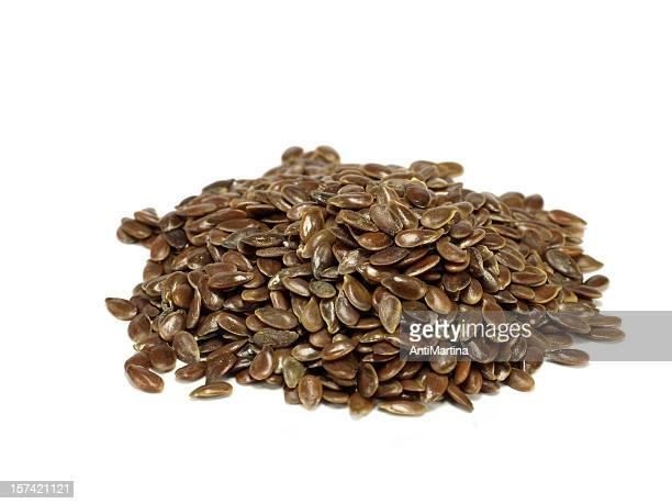 flaxseed, isoliert auf weiss