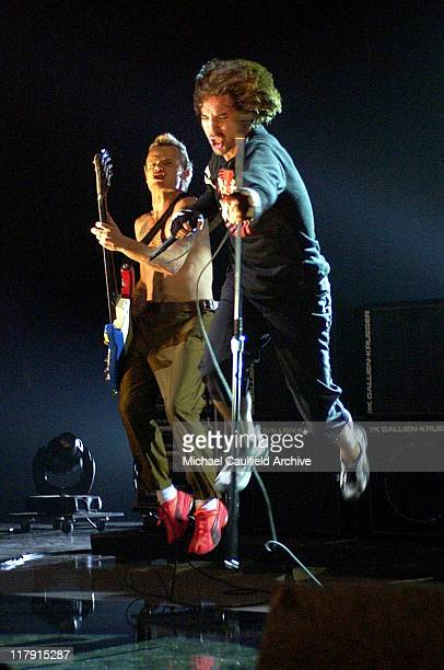 Flea and Anthony Kiedis of Red Hot Chili Peppers during ESPN Action Sports and Music Awards Show at The Universal Amphitheater in Universal City...