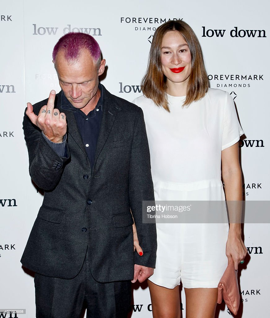 Flea and Sandha Khin attend the 'Lowdown' Los Angeles premiere at ArcLight Hollywood on October 23 2014 in Hollywood California