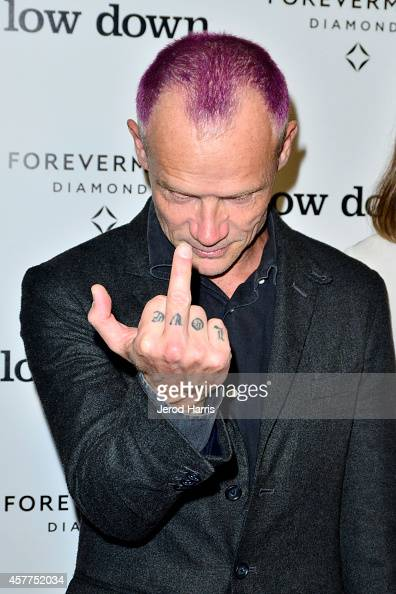 Flea arrives at the premiere of 'Lowdown' at ArcLight Hollywood on October 23 2014 in Hollywood California