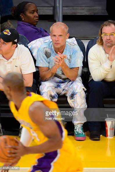 Flea attends a basketball game between the Phoenix Suns and the Los Angeles Lakers at Staples Center on November 4 2014 in Los Angeles California