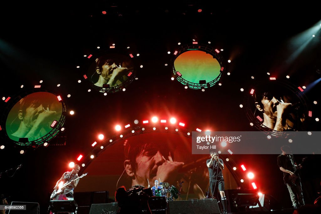 Flea, Chad Smith, Anothony Keidis and Josh Klinghoffer of Red Hot Chili Peppers erforms onstage during Day 3 at The Meadows Music & Arts Festival at Citi Field on September 17, 2017 in New York City.