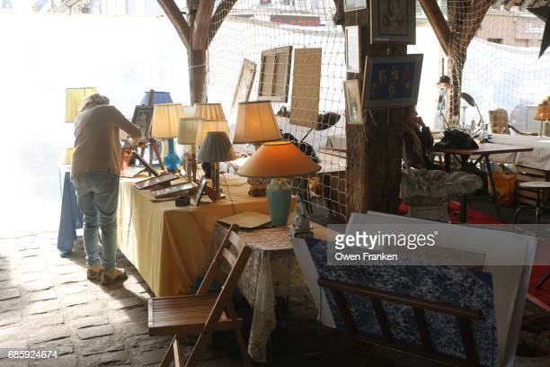 flea market in Milly la Foret- in the suburbs south of Paris