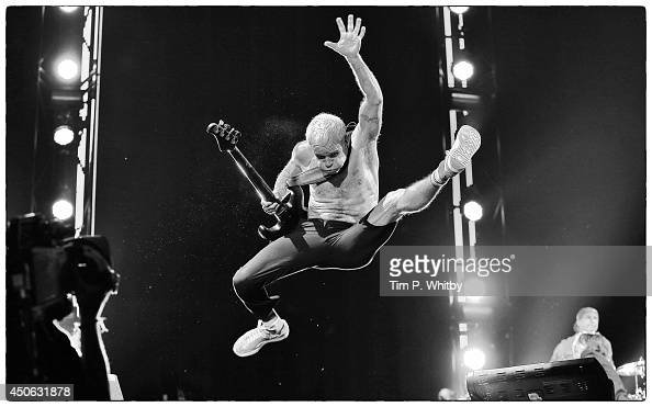 Flea of Red Hot Chili Peppers performs at The Isle of Wight Festival as Seaclose Park on June 14 2014 in Newport Isle of Wight
