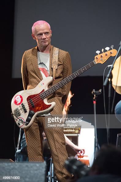 Flea performs during Pathway to Paris at Le Trianon on December 4 2015 in Paris France