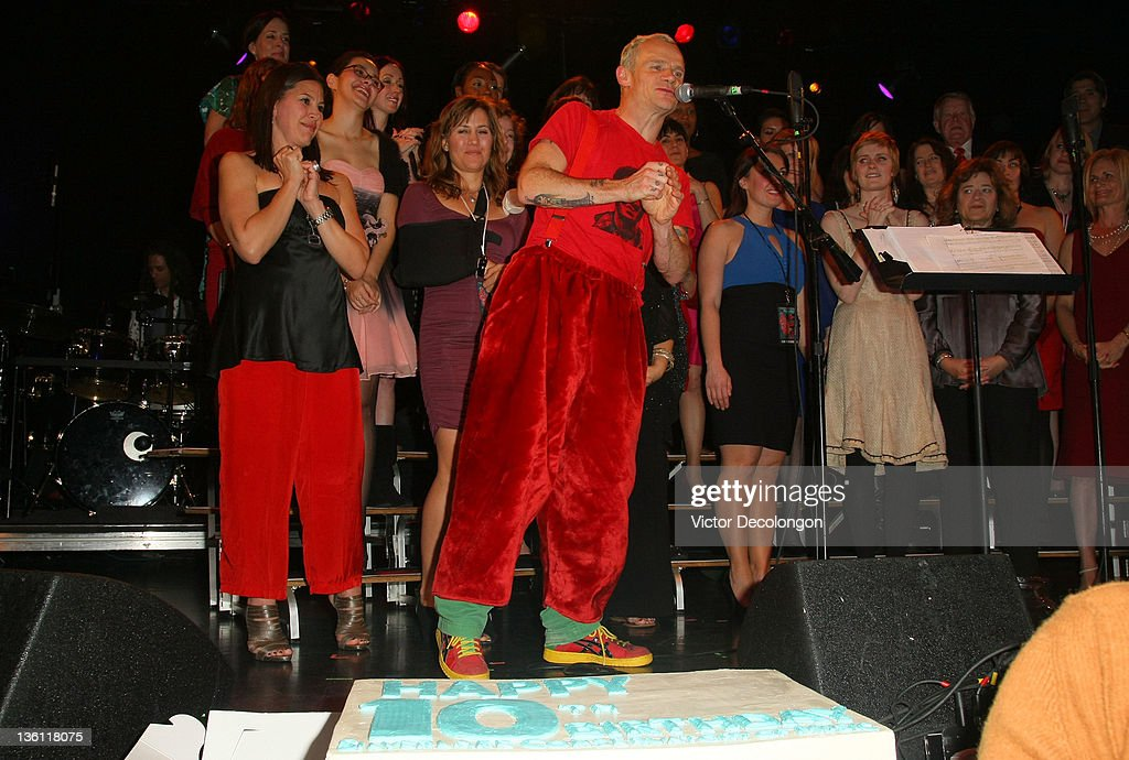 <a gi-track='captionPersonalityLinkClicked' href=/galleries/search?phrase=Flea+-+Musician&family=editorial&specificpeople=213900 ng-click='$event.stopPropagation()'>Flea</a> speaks to the audience during the Silverlake Conservatory Of Music's 'Hullabaloo' Benefit Concert at El Rey Theatre on December 22, 2011 in Los Angeles, California.