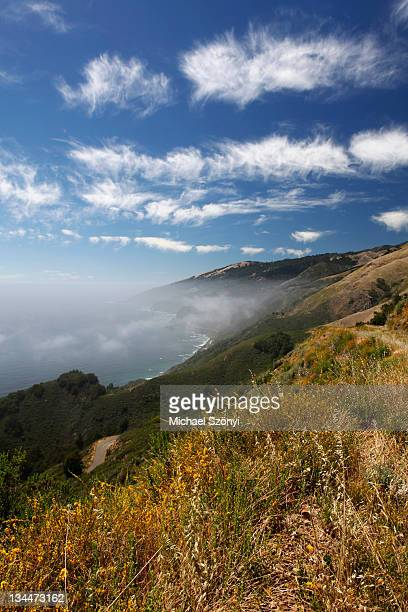 Fleecy clouds at the Pacific coast, California, USA