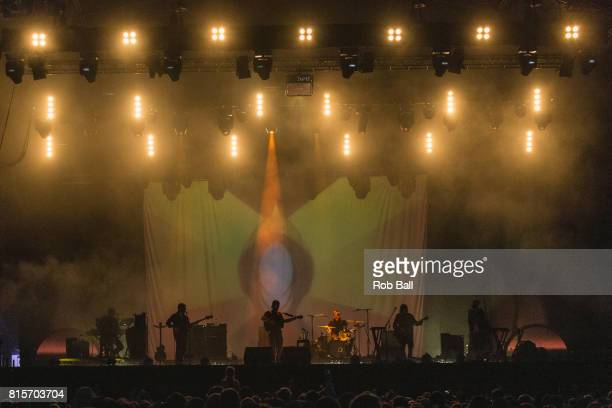 Fleet Foxes perform at Latitude Festival at Henham Park Estate on July 16 2017 in Southwold England