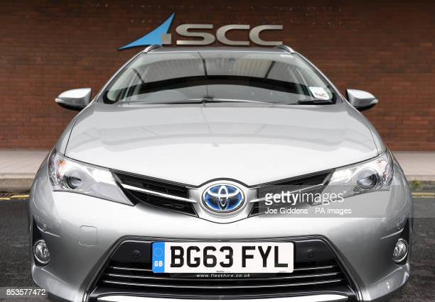 A fleet of Toyota cars outside of SCC James House Warwick Road Tyseley