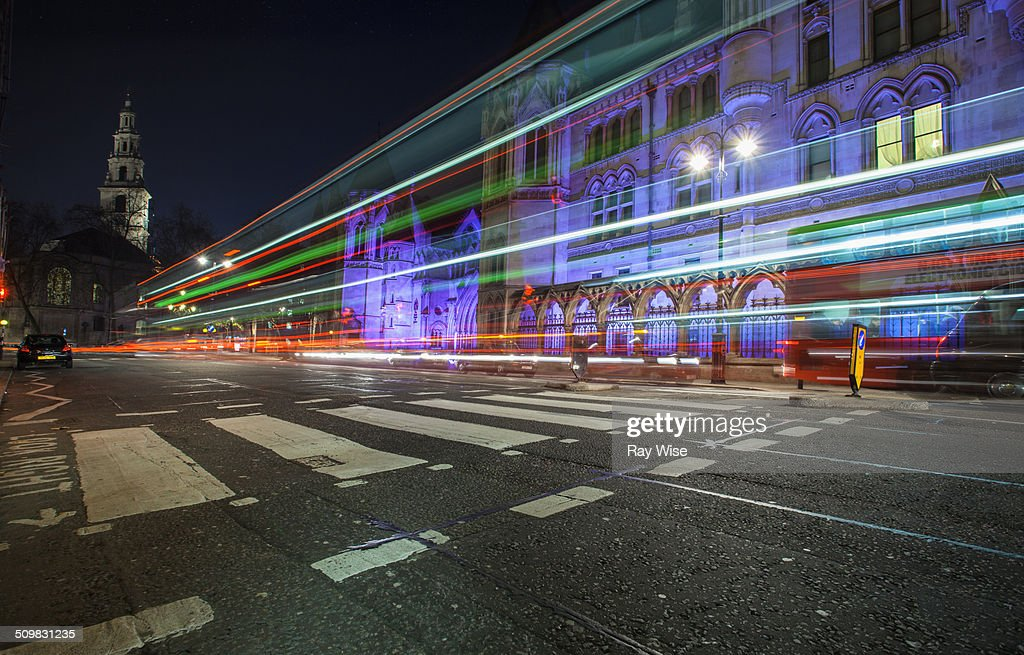 Fleet Street light trails
