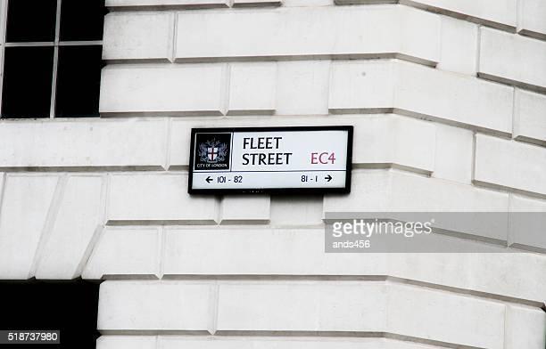 Flotte street-Schild auf dem Gebäude