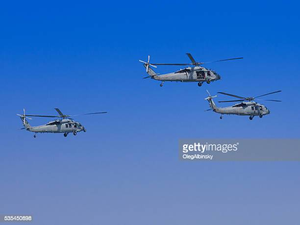 NYC Fleet Week 2016, Navy Helicopters Flying over the Fleet.