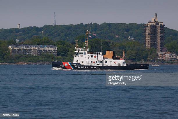 NYC Fleet Week 2016, US Coast Guard Boat, NY Harbor.
