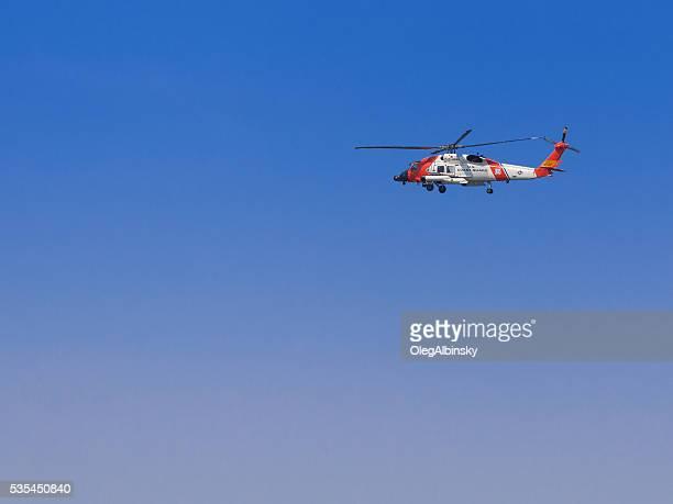NEW YORK CITY Flotte Woche 2016, UNS Küste Wache Hubschrauber.