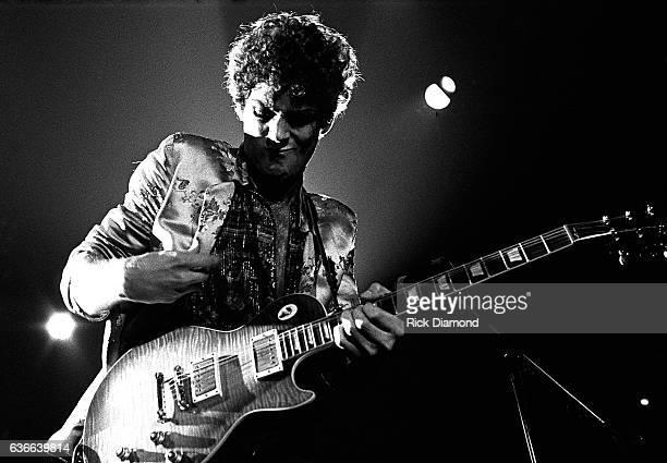 Fleetwood Mac Rock and Roll Hall of Fame Singer/Songwriter Lindsey Buckingham performs at The Omni Coliseum in Atlanta Georgia June 1 1977