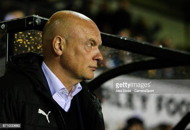 Fleetwood Town manager Uwe Rosler during the FA Cup First Round match between Chorley v Fleetwood at Victory Park on November 6 2017 in Chorley...