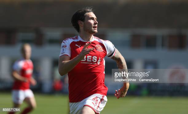Fleetwood Town's Aiden O'Neill during the Sky Bet League One match between Fleetwood Town and AFC Wimbledon at Highbury Stadium on August 19 2017 in...