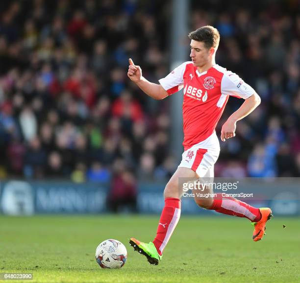 Fleetwood Town's Cameron Brannagan during the Sky Bet League One match between Scunthorpe United v Fleetwood Town at Glanford Park on March 4 2017 in...