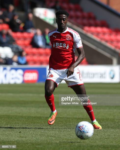Fleetwood Town's Jordy Hiwula during the Sky Bet League One match between Fleetwood Town and AFC Wimbledon at Highbury Stadium on August 19 2017 in...
