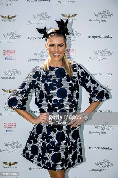 Flemington Ambassador Georgia Connolly who will climb into wine barrels for a Flemington race of a different kind poses on March 8 2016 in Melbourne...