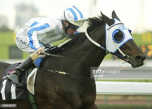Flemington Horseracing 11th June 2005 Race 8 Luke Nolen had the job on Emerald Jack for his first run in the city and cruised to an easy victory in...