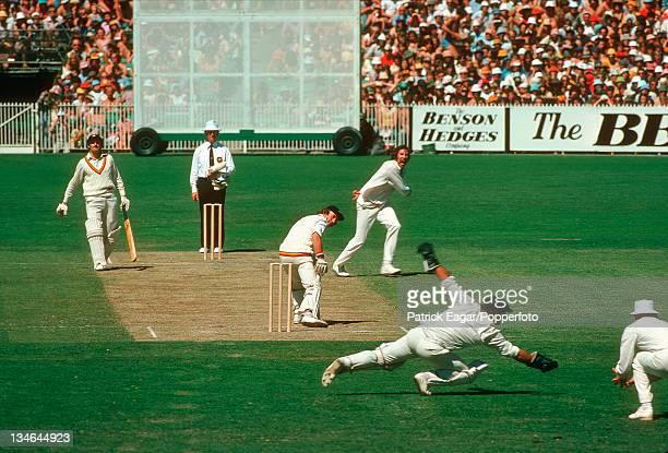 Fletcher caught Marsh bowled Walker Australia v England Centenary Test Melbourne Mar 197677