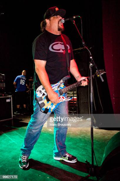 Fletcher Dragge of Pennywise performs live on stage at Shepherds Bush Empire on May 16 2010 in London England
