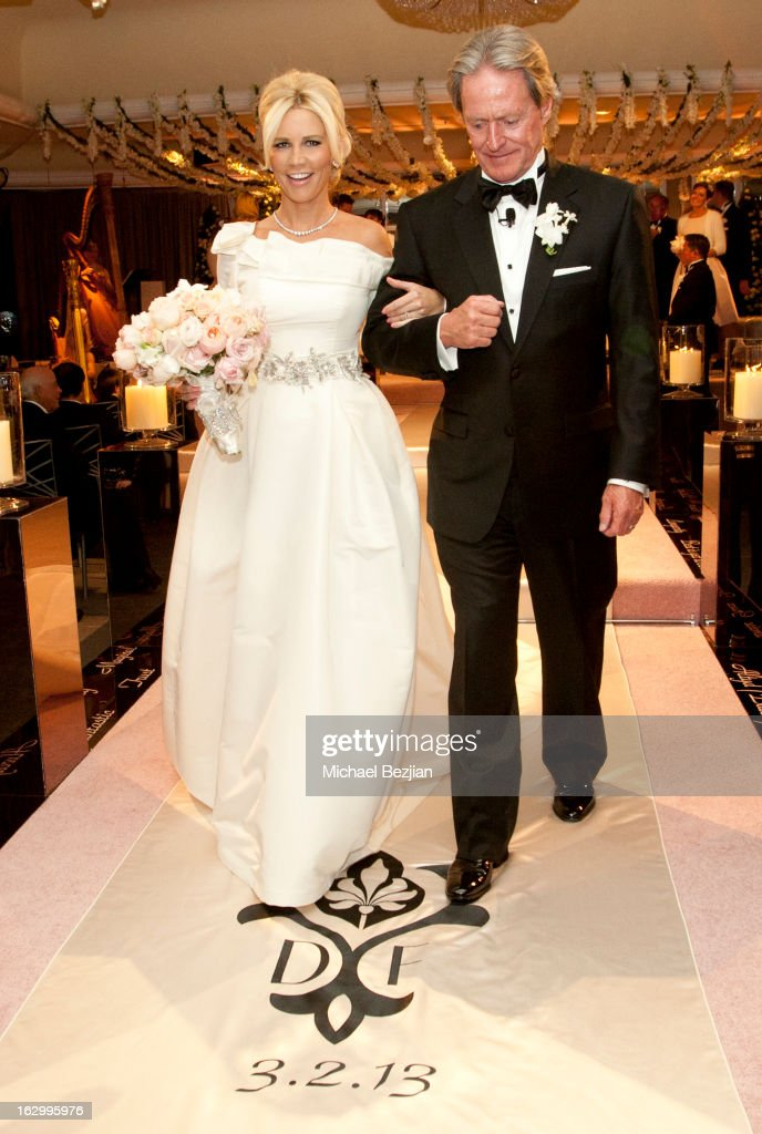 Fletcher Jones III And Dalene Kurtis attend Fletcher Jones III And Dalene Kurtis Wedding at Beverly Hills Hotel on March 2 2013 in Beverly Hills...
