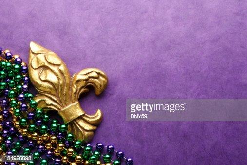 Fleur De Lys & Mardi Gras Beads