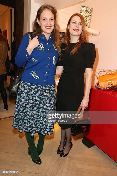 Fleur Demery and Elodie Frege attend 'Le Paris Du Tout Paris' Book Presentation At Maison Roger Vivier on February 4 2014 in Paris France