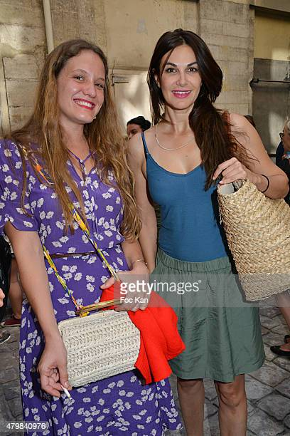 Fleur Demery and Helena Noguerra attend the Fifi Chachnil 'Grand Escalier' show as part of Paris Fashion Week Haute Couture Fall/Winter 2015/2016 on...