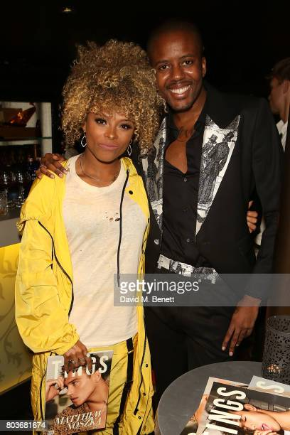 Fleur East and Vas J Morgan attend the launch of new magazine TINGS London at Mews of Mayfair on June 29 2017 in London England