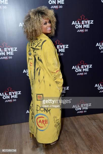 Fleur East attends the 'All Eyez On Me' UK Film Premiere on June 27 2017 in London England