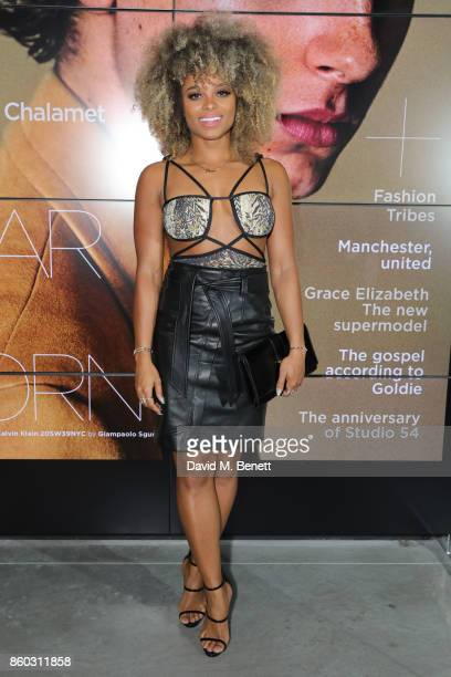 Fleur East attends the launch of the GQ Style Autumn/Winter issue at 18montrose Kings Cross on October 11 2017 in London England