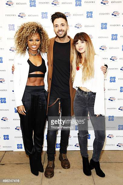 Fleur East Ben Haenow and Foxes attend The World Famous Oxford Street Christmas Lights Switch On Event taking place at the Pandora Flagship Store on...