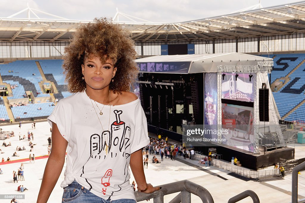 <a gi-track='captionPersonalityLinkClicked' href=/galleries/search?phrase=Fleur+East&family=editorial&specificpeople=13647630 ng-click='$event.stopPropagation()'>Fleur East</a> poses in the press room during 'MTV Crashes Coventry' at Ricoh Arena on May 27, 2016 in Coventry, England.