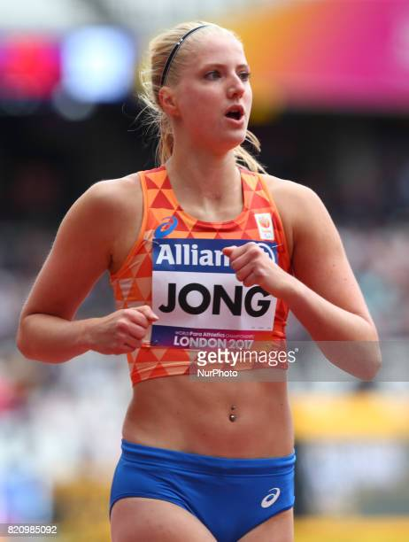 Fleur Jong of Nederland competing Women's 200m T44 Round 1 Heat 2 during World Para Athletics Championships at London Stadium in London on July 22...