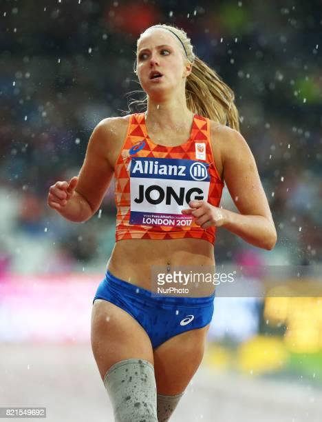 Fleur Jong of Nederland winner of Women's 200m T44 Final during World Para Athletics Championships at London Stadium in London on July 23 2017