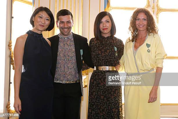 Fleur Pellerin Alexis Mabille Sylvie Hoarau and Aurelie Saada attend French minister of Culture and Communication Fleur Pellerin gives Medal of...