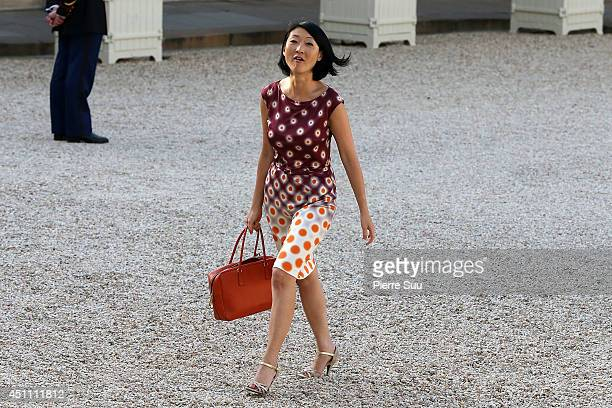 Fleur Pellerin attends the State Dinner In Honor Of Sheikh Tamim Bin Hamad AlThani Emir of Qatar at Elysee Palace on June 23 2014 in Paris France