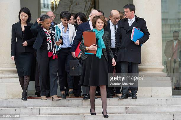 Fleur Pellerin French Culture Minister Christiane Taubira French Minister of Justice Najat VallaudBelkacem French Minister of National Education...