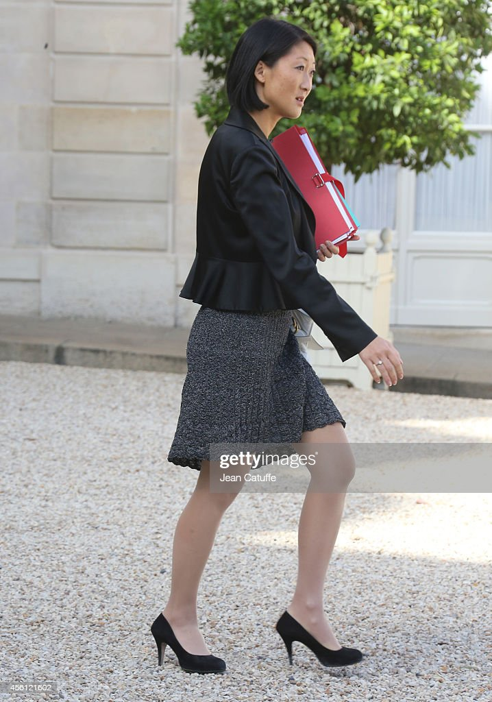 <a gi-track='captionPersonalityLinkClicked' href=/galleries/search?phrase=Fleur+Pellerin&family=editorial&specificpeople=8784076 ng-click='$event.stopPropagation()'>Fleur Pellerin</a>, French Minister of Culture and Communication attends the 'Conseil des Ministres', the weekly Cabinet meeting around the French President at Elysee Palace on September 25, 2014 in Paris, France.