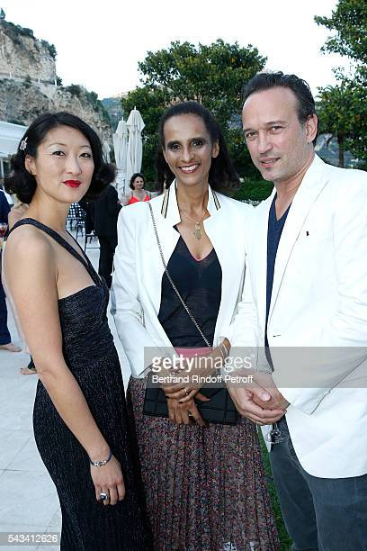 Fleur Pellerin Karine Silla and Vincent Perez attend Fred Jeweler Celebrates 80 Years of Creation at Hotel Cap Estel in Eze France on June 23 2016