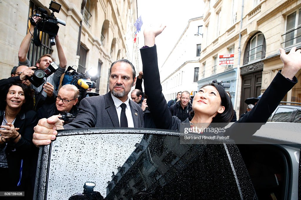 Fleur Pellerin leaves Minister of Culture after Audrey Azoulay (not in picture) Newly Appointed French Minister of Culture and Communication instead of Fleur Pellerin at Minister of Culture on February 12, 2016 in Paris, France.