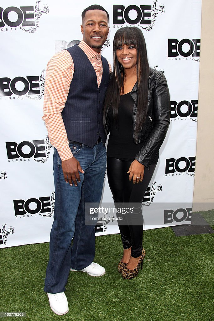 Flex Alexander (L) and <a gi-track='captionPersonalityLinkClicked' href=/galleries/search?phrase=Shanice+-+US+Singer&family=editorial&specificpeople=846714 ng-click='$event.stopPropagation()'>Shanice</a> Wilson attend the 1st Annual Grammy Producers Brunch honoring Rodney Jerkins held at Xen Lounge on February 5, 2013 in Los Angeles, California.