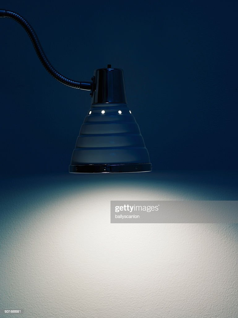 Flexible Desk Lamp By Wall. : Stock Photo