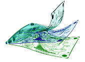 PCB design layers shown to be flexible. 3 interleaved page like electronic circuit designs shown.