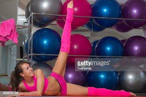 Flexible Sexy Fitness Woman